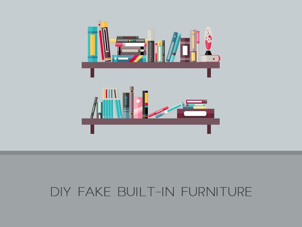 DIY Fake Built-In Furniture