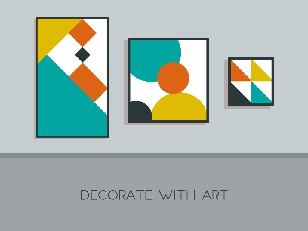 Decorate with art