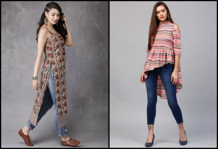 Jeggings or Jeans with Kurti