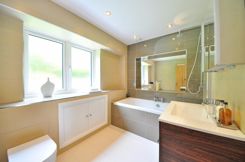 abundance of natural light inside the bathroom