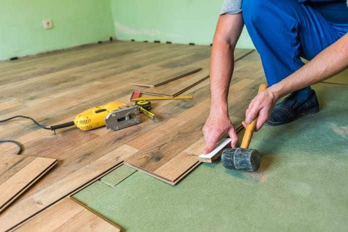 replace flooring in a mobile home