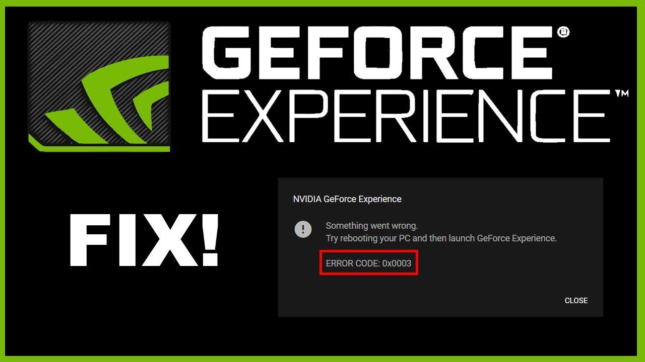 Geforce Experience Error